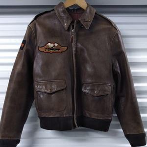 Avirex Jackets & Coats - Avirex Vintage Brown leather bomber motorcycle jac